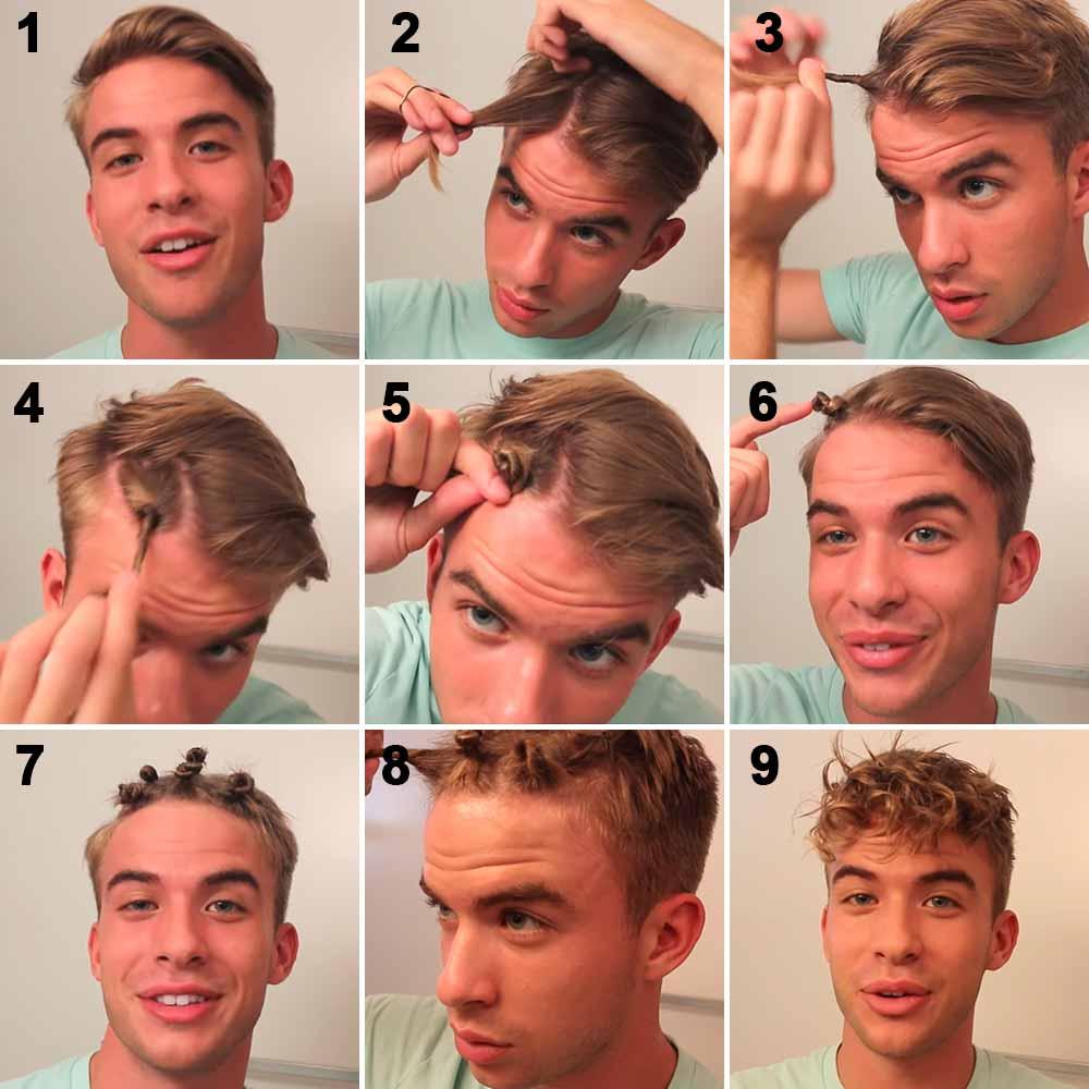 Cómo hacer que el hombre de pelo rizado mediante la creación de torchon