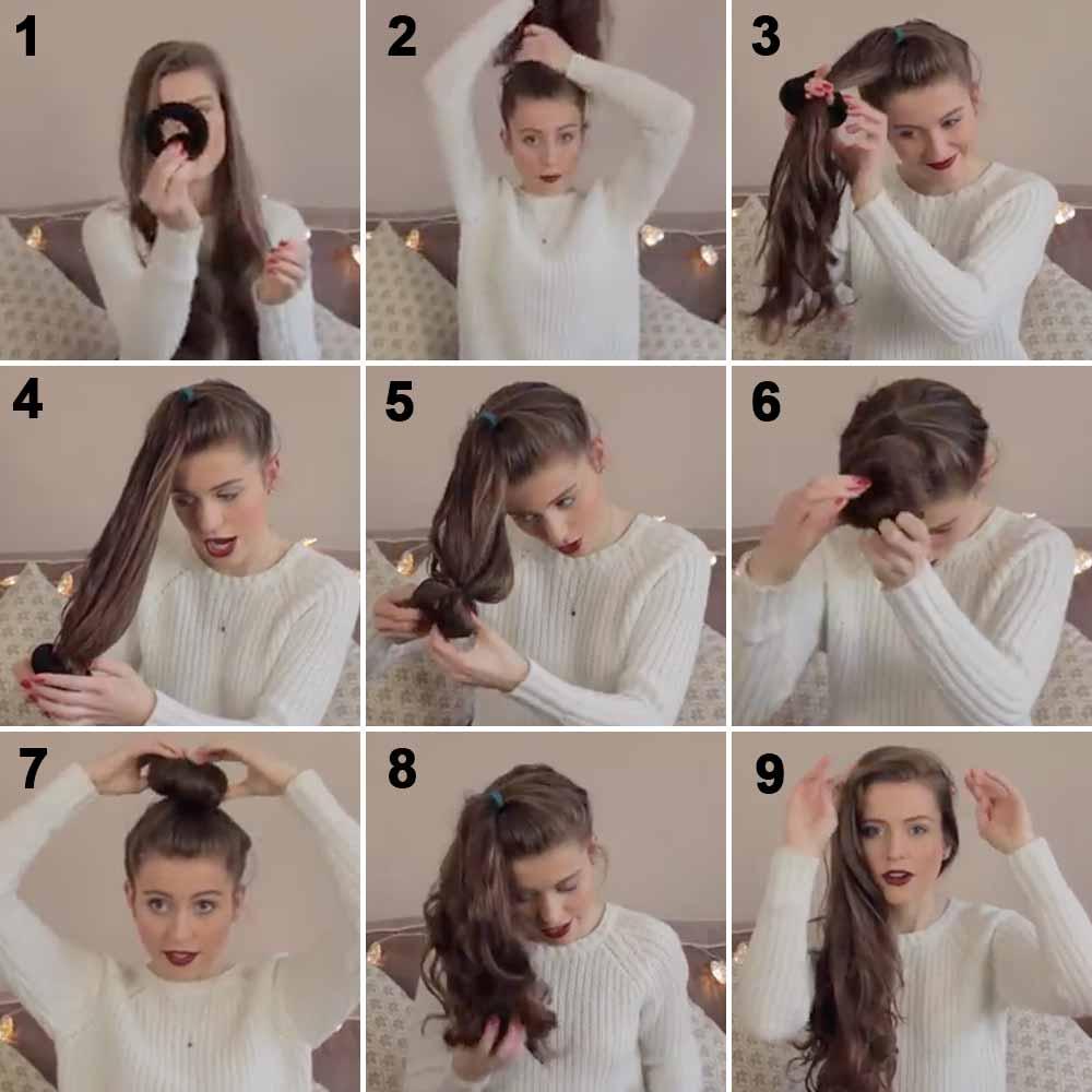 Cómo hacer el pelo rizado con moño