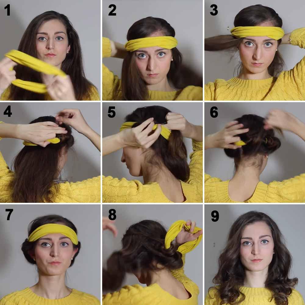 Rizar el pelo con una cinta para la cabeza