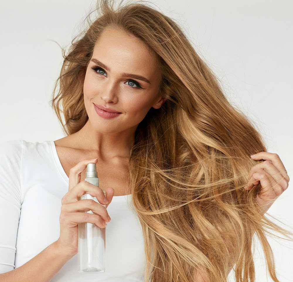 spray para alisar el cabello
