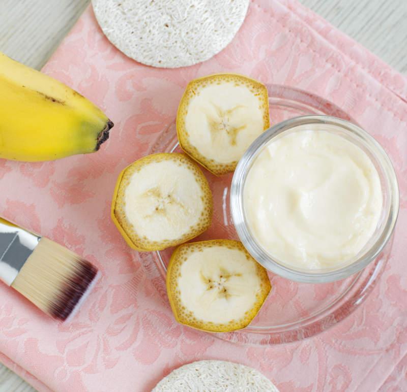 Ingredientes Tratamiento facial de plátano DIY