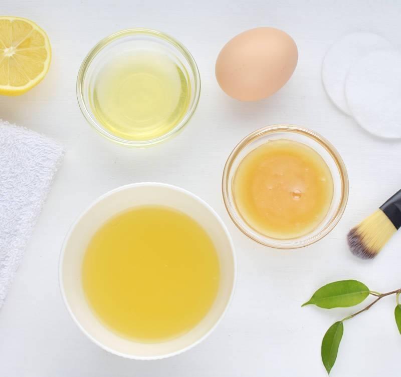 Ingredientes Mascarilla facial de bricolaje con huevo