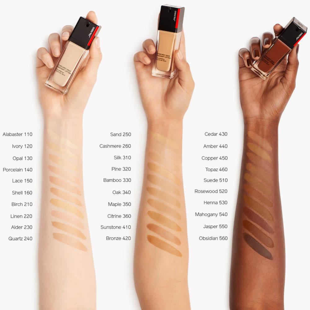 Muestras de bases de maquillaje Shiseido
