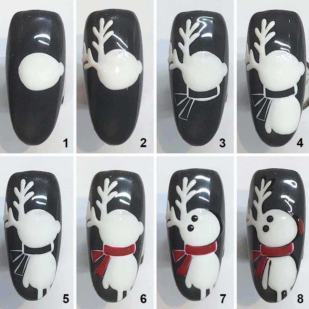 Sencillo arte de uñas navideño DIYrenna