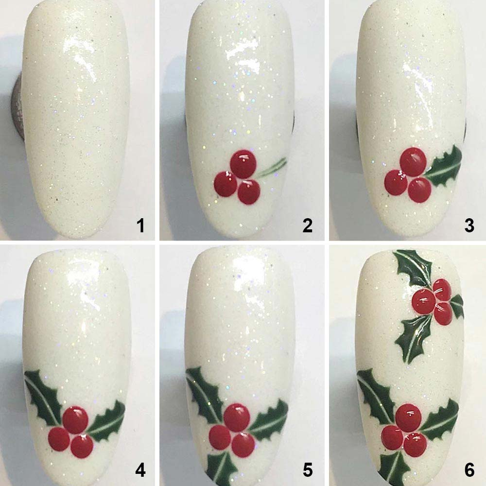 Sencillo arte de uñas navideño DIY