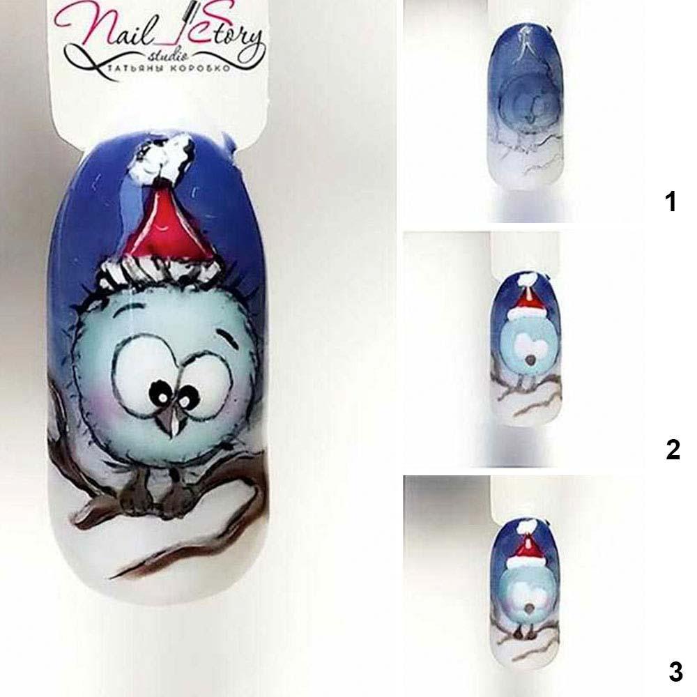 Arte de uñas de pájaros de Navidad