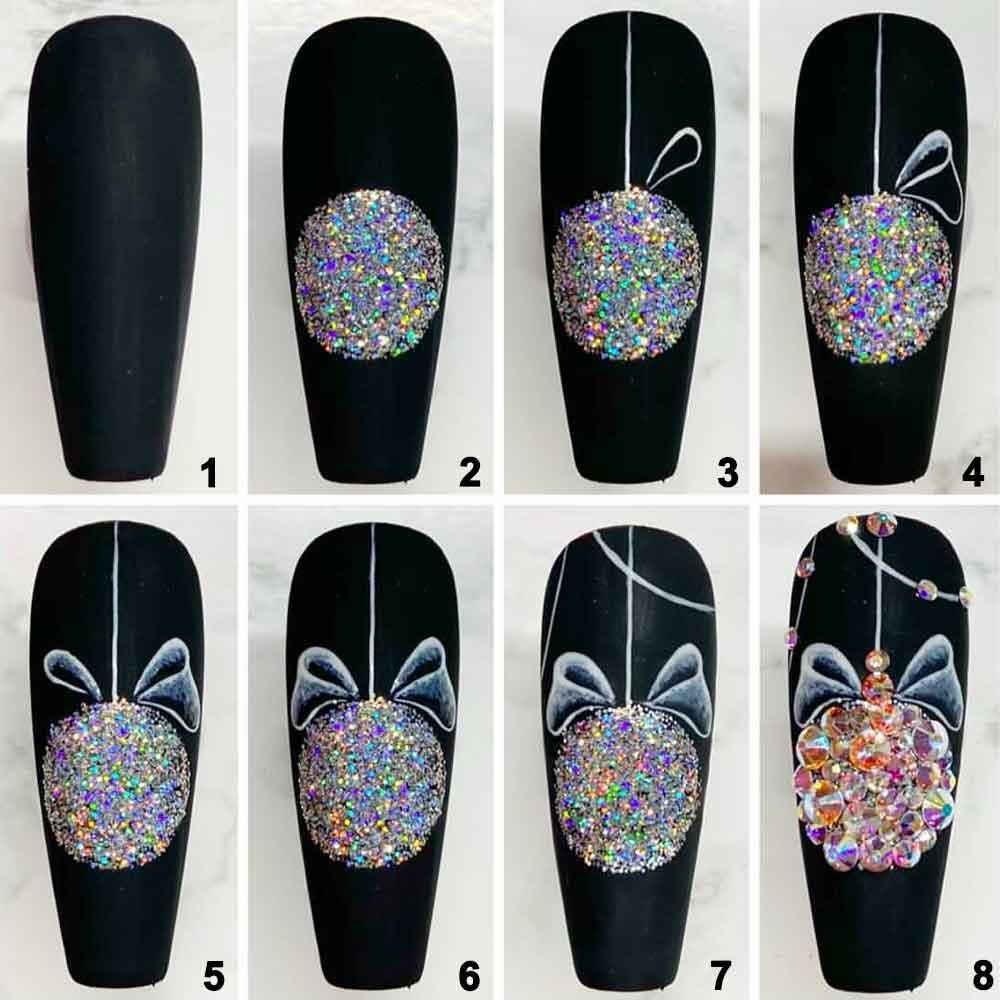 Tutorial de nail art navideño sencillo