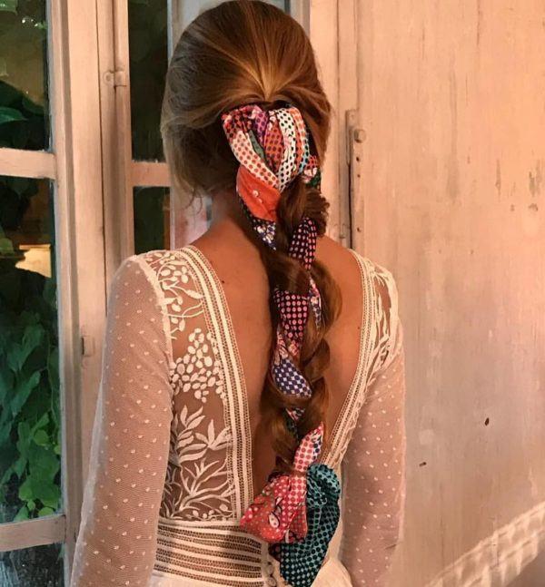 Peinados de moda en tik tok trenza pañuelo
