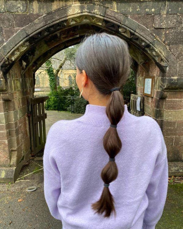 Peinados de moda en tik tok.bubble hair