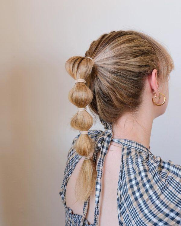 Peinados de moda tik tok.bubble hair