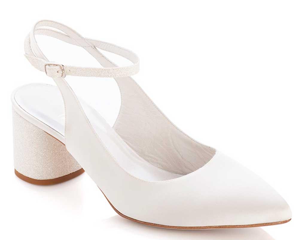 zapatos de boda con tacón ancho 2021