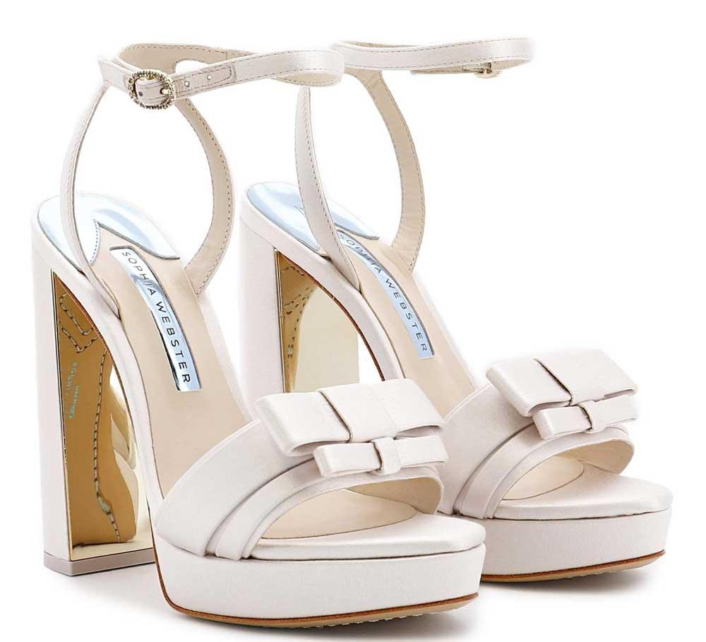 zapatos de boda cómodos con plataforma 2021