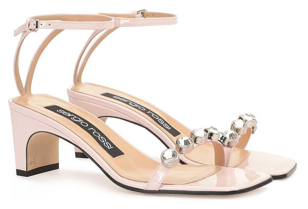 sandalias de color para novias