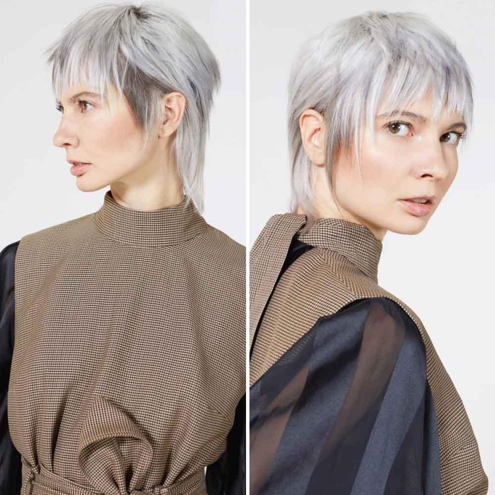 Peinado reducido con flequillo