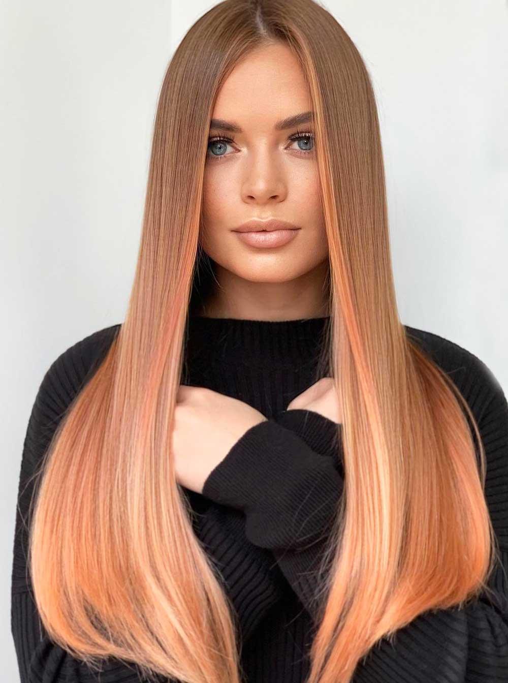 Incluso cortes de pelo largo y liso primavera verano 2021