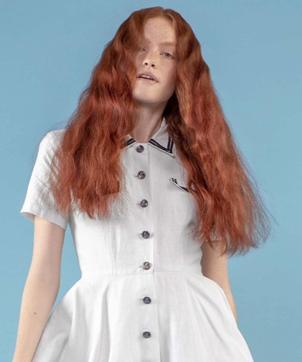 Cortes de pelo largo y ondulado con raya al medio primavera verano 2021