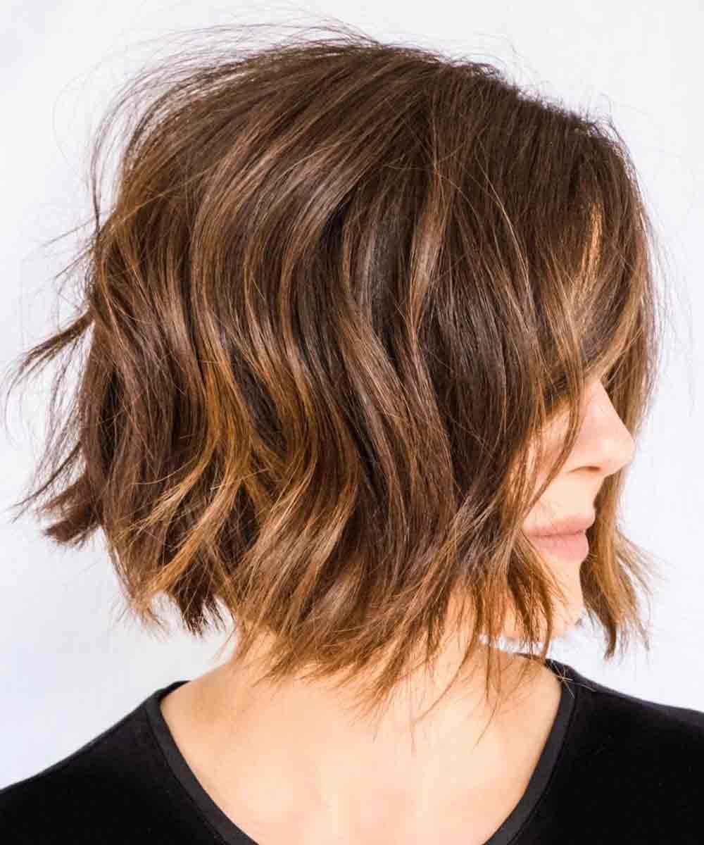 Cortes de pelo medio cortos y elegantes primavera verano 2021