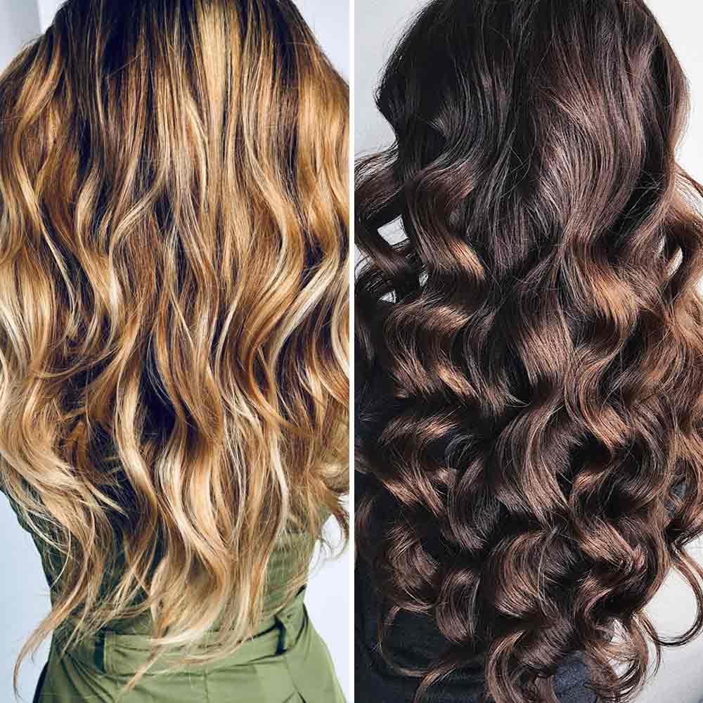 Escalado de pelo largo y ondulado