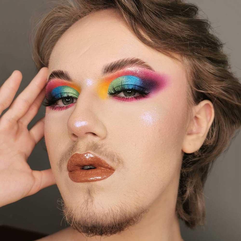 Halo rainbow make up