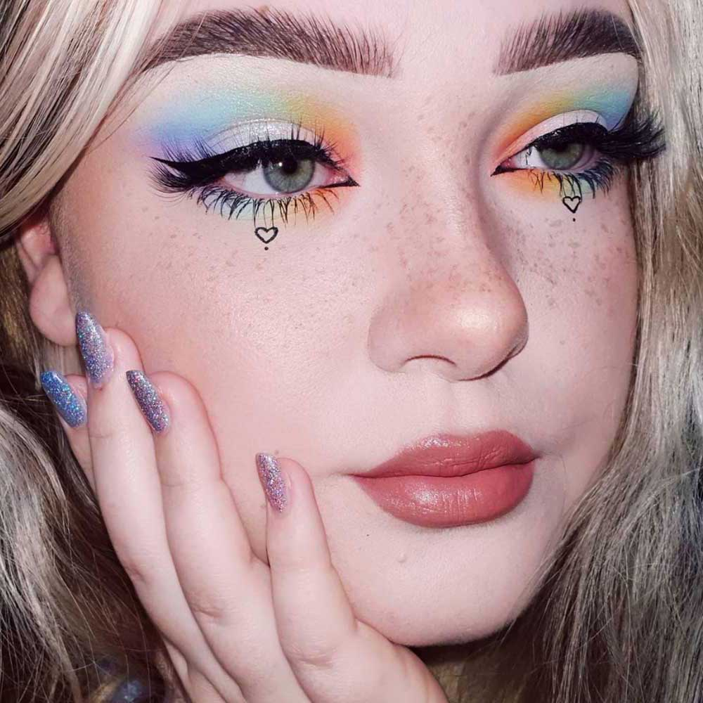 Maquillaje de ojos borroso