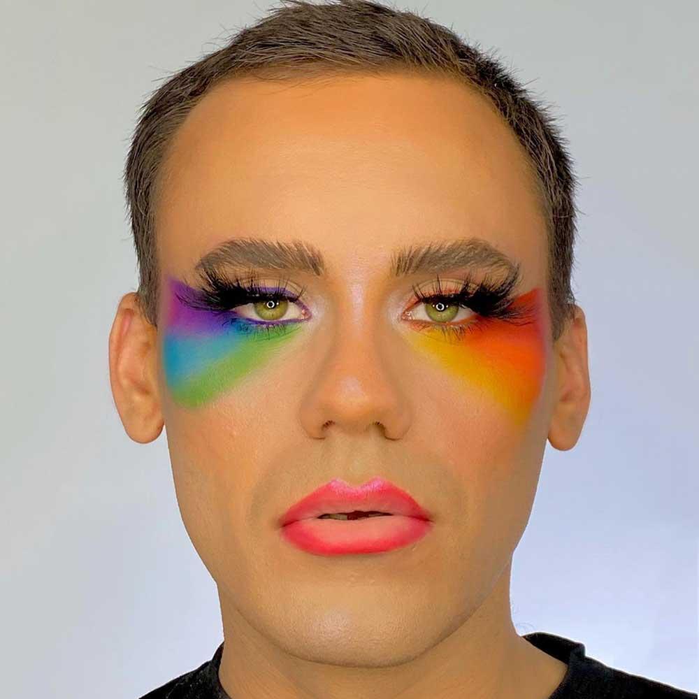 Maquillaje de ojos para el mes del orgullo