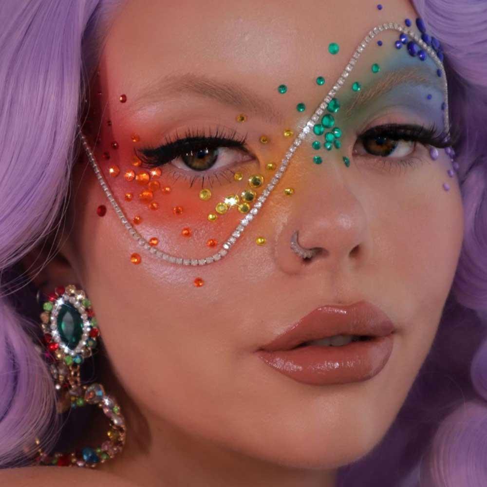 Maquillaje de ojos Pride 2021