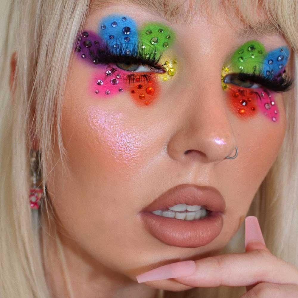 Maquillaje de ojos Pride