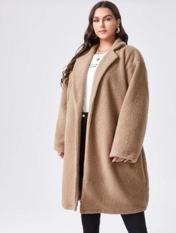 Abrigo grande teddy de mujer de Shein