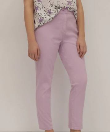 Pantalones de mujer semirectos en lila