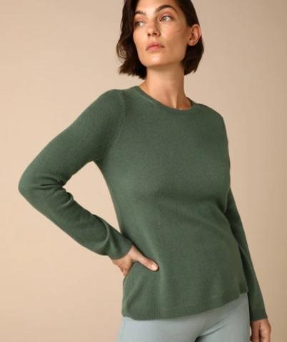 Jersey verde de mujer