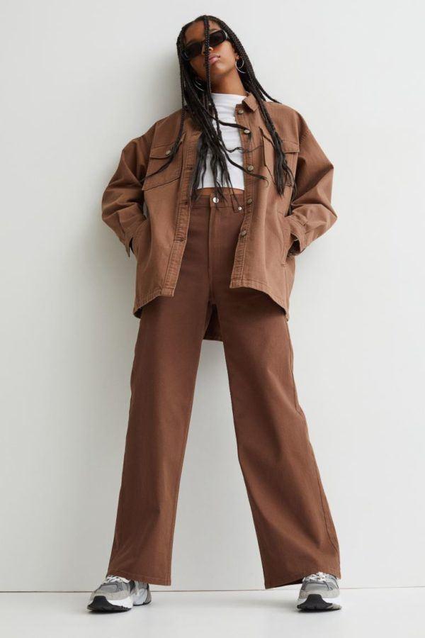 Catalogo hym otoño invierno 2021 2022 pantalon amplio sarga