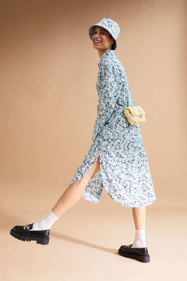 Catalogo hym otoño invierno 2021 2022 vestido flores