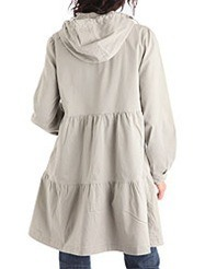 impermeable con capucha beige 34,99 €