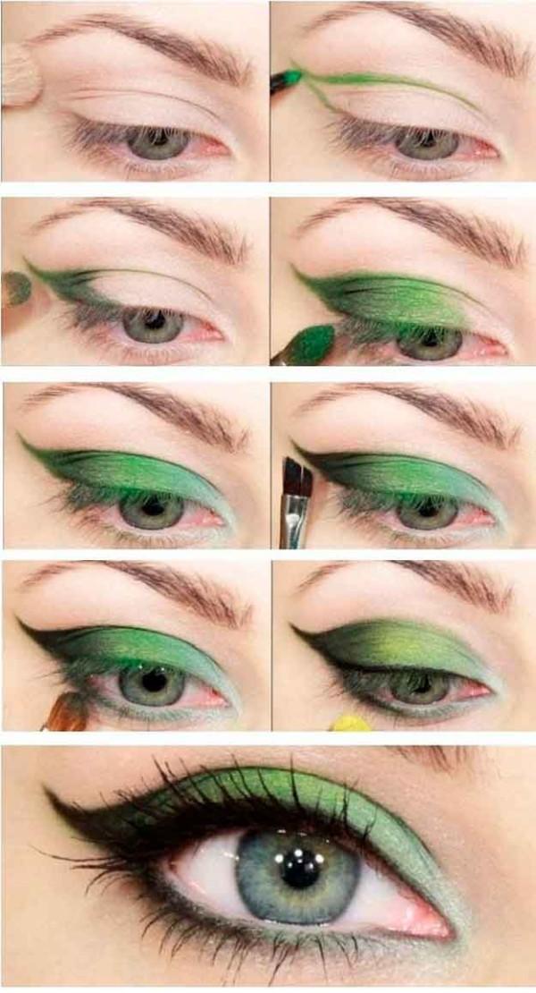 Cómo maquillar ojos verdes
