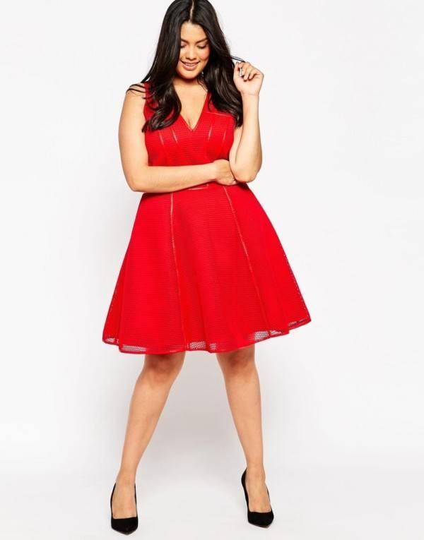 vestido,de,fiesta,para,gorditas,rojo,sin,mangas