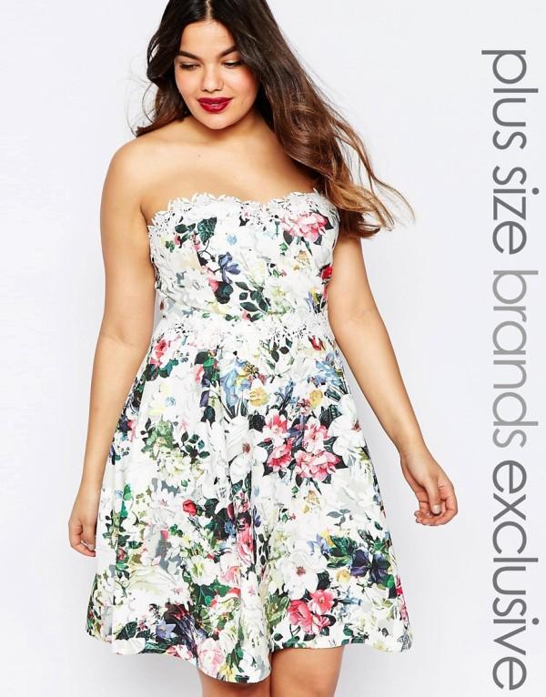 vestidos-de-fiesta-para-gorditas-cortos-estampado-floral
