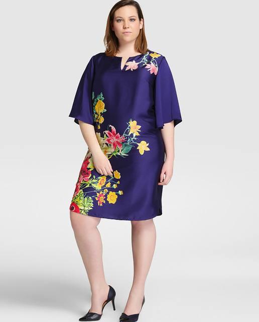 vestidos-de-fiesta-para-gorditas-cortos-estampado-flores