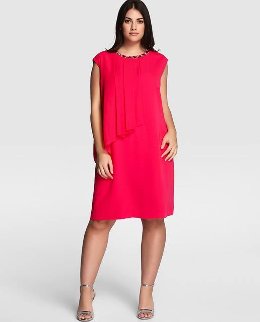 vestidos-de-fiesta-para-gorditas-cortos-rojo