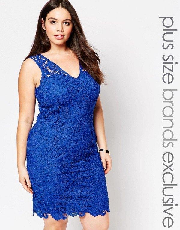 vestidos-de-fiesta-para-gorditas-encaje-azul-sin-mangas