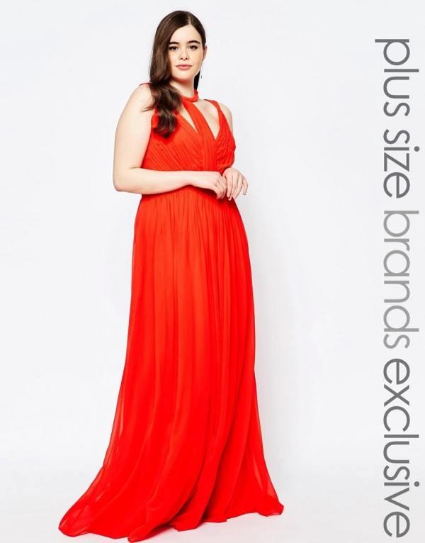 vestidos,de,fiesta,para,gorditas,largo,rojo