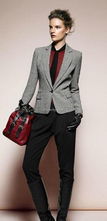 Como combinar chaqueta gris claro