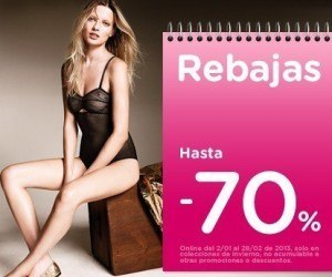 Rebajas hasta el 70% en Women Secret