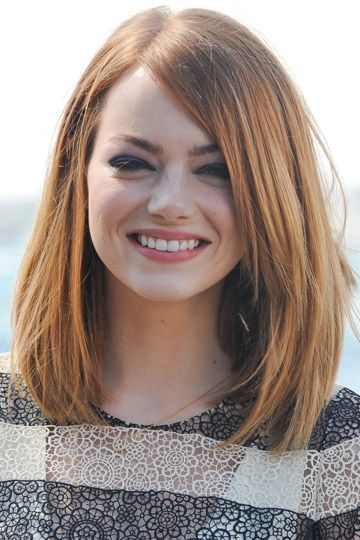 hairstyles-half-hair-round-face-red-haired