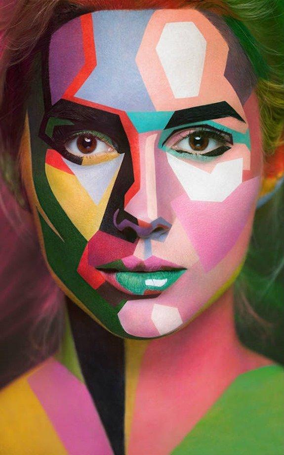 Maquillaje multicolor 2