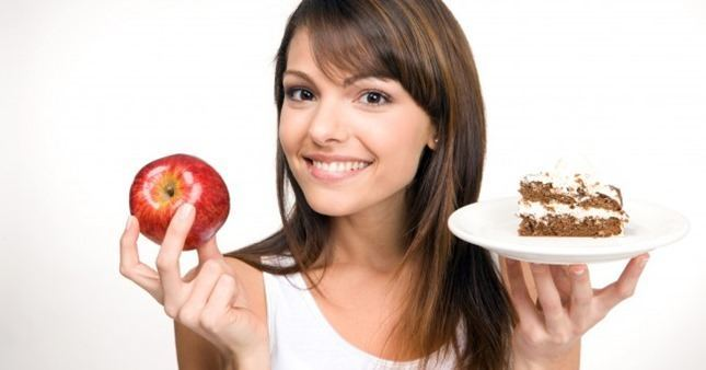 woman_health_happy_diet_weight_choice_calorie_calories_nutrition_apple_fruit_cake_healthcare_eat_body_shape_figure
