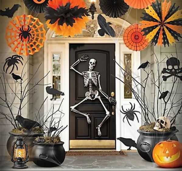 De 100 ideas para halloween 2018 - Decoration de porte halloween ...