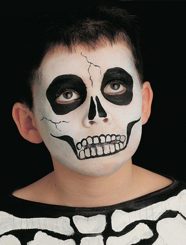 De 115 fotos de maquillaje halloween para ni os 2017 - Pintura cara halloween ...