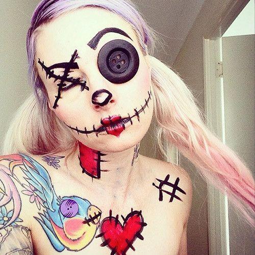 maquillaje-halloween-muneca
