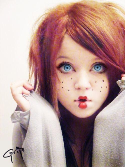 maquillaje-halloween-nino-muneca-con-pecas