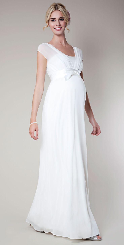 Vestidos para novias embarazadas Primavera Verano 2018 - Blogmujeres.com